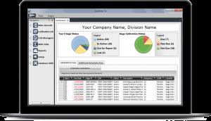GAGEtrak Calibration Management Software Screen on Laptop